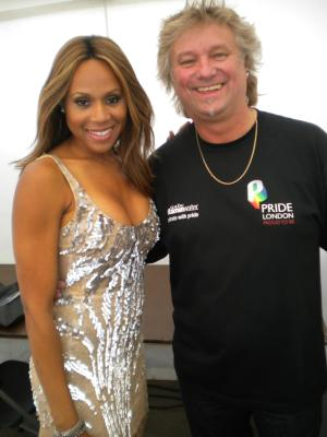 Barry with Deborah Cox