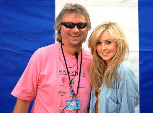 Barry with Diana Vickers Birmingham Pride  2009